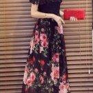 Korean Floral Chiffon Maxi Dress