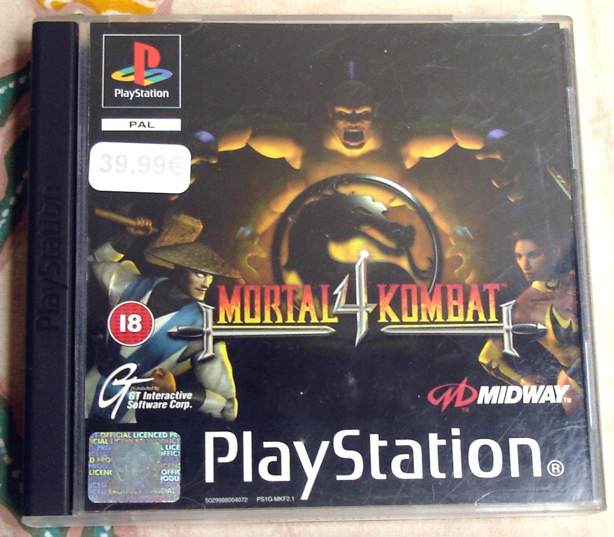 Mortal Kombat 4 Sony Playstation Sony Playstation PSX PAL (Euro Release)