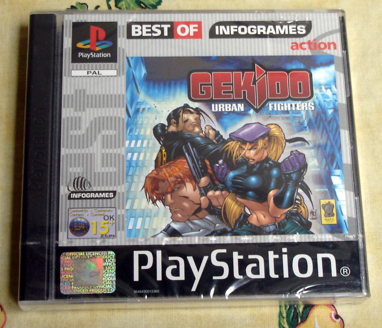 Gekido Urban Fighters Sony Playstation PSX PAL Systems (Italian Release)