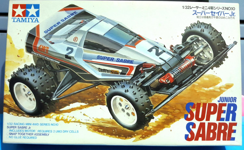 Super Sabre Junior Tamiya Mini Racing 4 W/D Scale 1:32 1988 Made In Japan