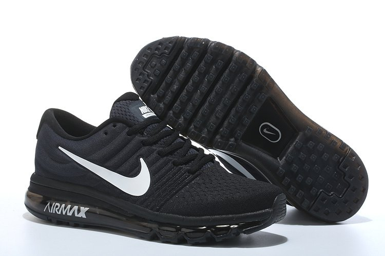Nike Air Max 2017 Black White Men Running Shoes (Size 10)