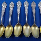 Six Floral Sterling Silver Demitasse Spoons by Syman Sterling  (#1631)