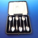 Original Box with 6 Sterling Silver Demitasse Spoons Birmingham 1925 (#1068)