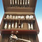 NEW SET OF PYRAMID STAINLESS STEEL BY GEORG JENSEN SERVICE FOR 8 W/2 SERVERS