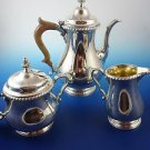 3-Piece Sterling Silver Coffee Set by Gorham Circa 1960