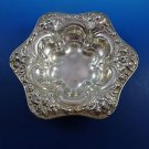 Sterling Silver Small Candy Dish with Beautiful Flower Pattern (#H192)