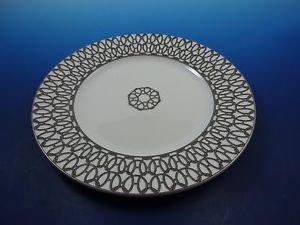 New 1 Silver Thread Fil d' Argent by Hermes of France Porcelain Dessert Plate