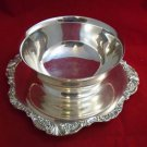Baroque Silverplate by Wallace - Sauce Bowl with Underplate (#2)