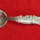 Vintage New York from North River Skyline Sterling Silver Souvenir Spoon