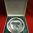 Sterling Silver Plate with Gold Finches by National Audubon Society