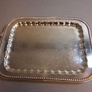 Silverplate Afternoon Tray with Gadroon Border and Handles