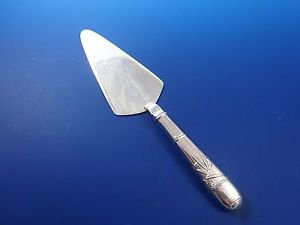 All Sterling 950 Pie Server with Bamboo Pattern on Handle (#1199)