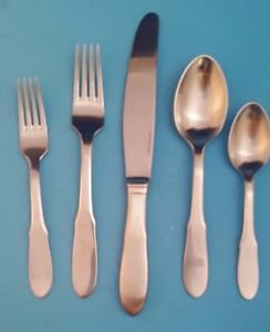 New Mitra Matte Stainless Steel 5 Piece Place Setting by Georg Jensen