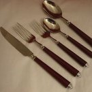 Claridge Burgundy by Mikasa Stainless Place Setting 5 Piece