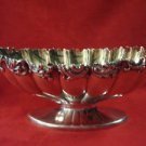 OVAL FOOTED GORHAM STERLING BOWL WITH RIBBED DESIGN