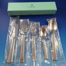 New Ercuis Cedre Stainless Steel 5 Piece Place Setting In Original Box  #50