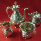 4 Piece Gorham Sterling Silver Coffee or Tea Set 1888