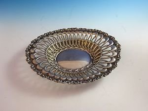 Oval Bowl Sterling Silver w/Open Design   H151
