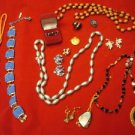 Lot of Miscellaneous and Some Broken Jewelry / Great for Crafts!  (#396)
