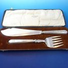 Antique Fish Set by Walker & Hall of Sheffield England in Original Box