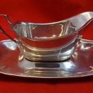 Sterling Silver Gravy Boat with Underplate