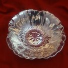 Beautiful Sterling Silver Fruit Bowl with Flower Design in Center  (H107)