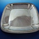 """Silver Plated Square Tray with Gadroon Edge 13"""""""