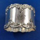 Sterlng Silver Baroque Style Napkin Ring with Scroll Edge by Gorham (#1595)