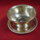 PRELUDE STERLING SILVER DIP BOWL WITH UNDERPLATE