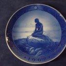 1962 Royal Copenhagen RC Christmas Plate Little Mermaid