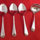3 Serving Spoons and 1 Gravy Ladle in Old English Stainless Steel by Sheffield