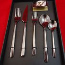 Linea Oro Nero Stainless 5 Piece Place Setting by Mepra in Fitted Box #2