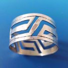 Modernistic Mexican Sterling Silver  Napkin Ring with Cut Out Design     #2631