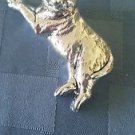 Sterling Silver 925 Lying Cat Figurine  (#249)