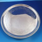 English Footed Salvar Tray Sterling Silver Made in London