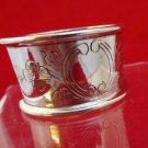 Antique Silver Wide Napkin Ring w/ Floral Design  (2648)