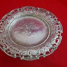 Sterling Silver Serving Plateau by Shreve & Co.with Scene from Holland in center