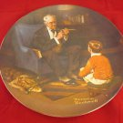 """Edwin M Knowles China Norman Rockwell Plate """"The Tycoon"""""""