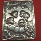 Silverplate Vintage Pill Box w/ angel design