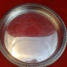 Silverplate Tray with Raised Edge and Engraved Design