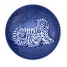 """2013 BING & GRONDAHL MOTHERS DAY PLATE """"  ZEBRA AND FOAL  """""""