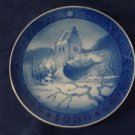 1966 Royal Copenhagen RC Christmas Plate Blackbird at Christmas