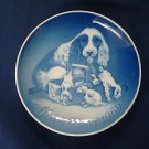 1969 BING & GRONDAHL B&G MOTHER'S DAY PLATE COCKER SPANIEL & PUPS