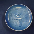 1986  BING & GRONDAHL B&G MOTHER'S DAY PLATE ELEPHANT WITH CALF