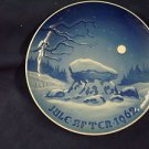 1962 CHRISTMAS PLATE BING & GRONDAHL B&G WINTER NIGHT