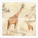 Giraffe Lacquer Mural
