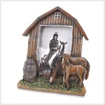 NEW! Mare And Foal Barn Scene Photo Frame