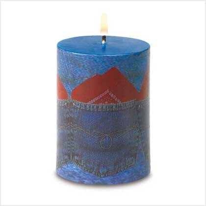 NEW! Denim Patchwork Candle