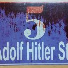 WWII WW2Nazi German 5 Adolf Hitler street house # sign