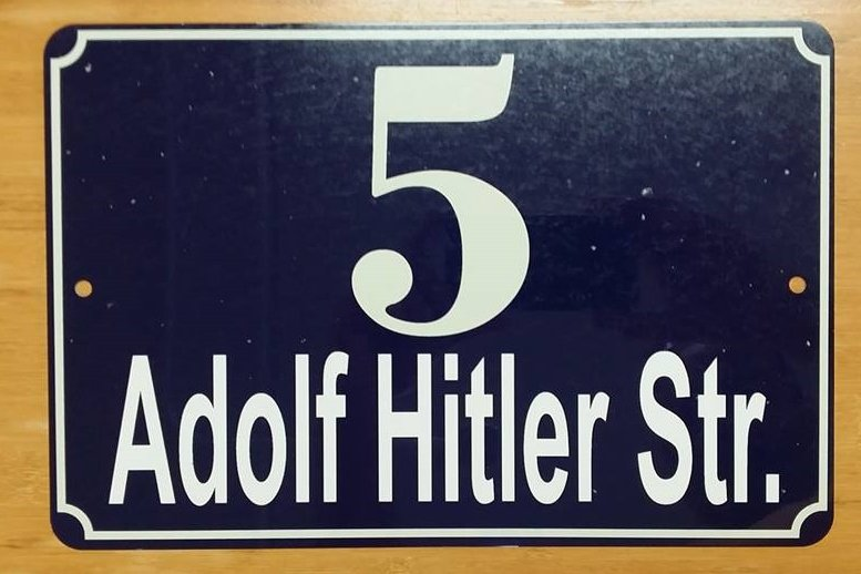 WWII WW2Nazi German 5 Adolf Hitler street house # sign
